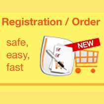 Safer - Easier - Faster:  The online registration and order system